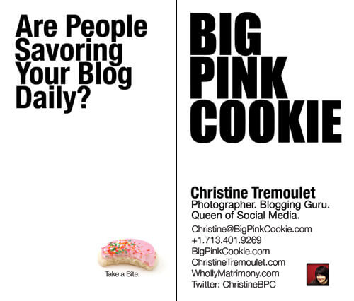 Get Some Big Pink Cookies for your Blog!