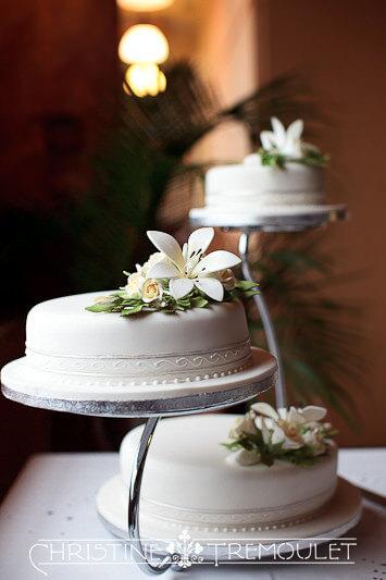 Wedding cake at Byzantium