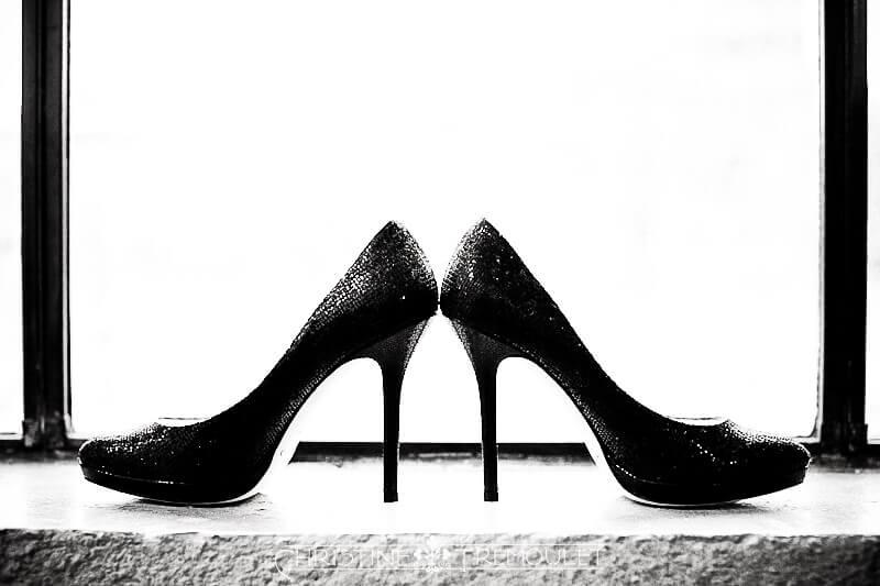 Ann's black, sparkly Jimmy Choo Shoes