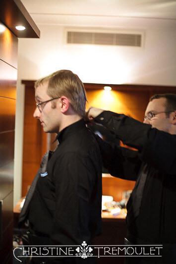 Dan helps Karl get ready