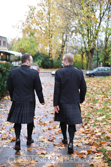 Karl walks to wedding venue in Bristol, UK