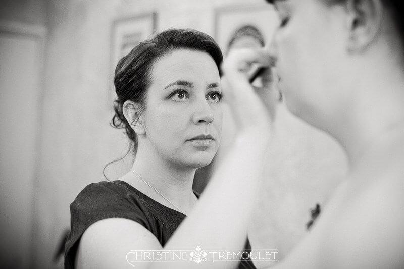 Ann doing Joy's makeup for her crerremoy