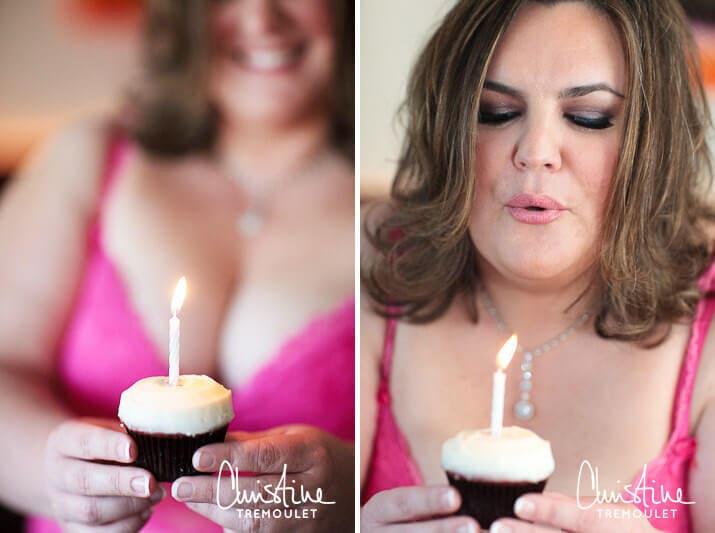 Happy Birthday cupcake - Houston Hot Mama Boudoir Photographer