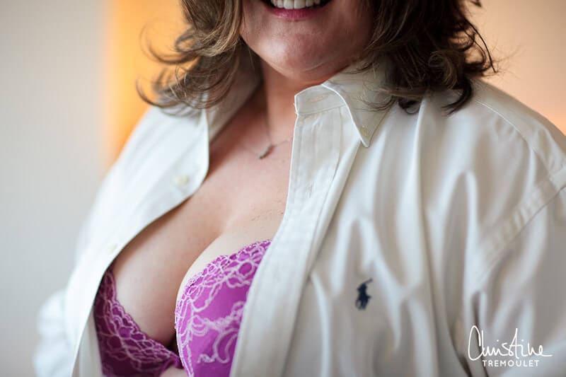 Pink Lace Bra - Houston Boudoir Photography