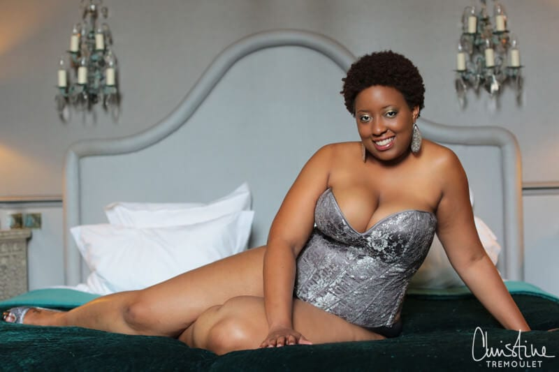 Trunetta is a FANCY Hot Mama! Boudoir Photography in Paris, France