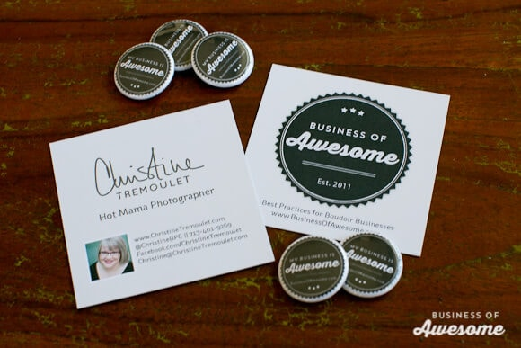 Business Cards for Conferences and Conventions - and Buttons!