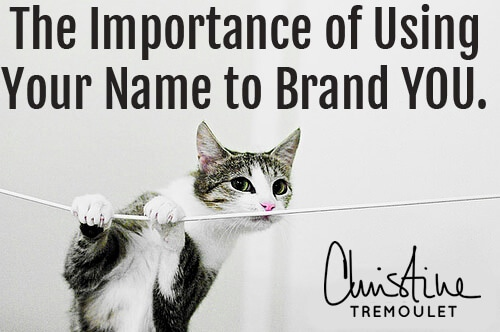 The Importance of Using Your Name to Brand YOU for your business - choosing what to name your business can be hard; but your name? Always memorable.