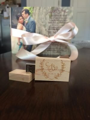 Custom USB drive by Julie Anne Photographer in Atlanta, Georgia