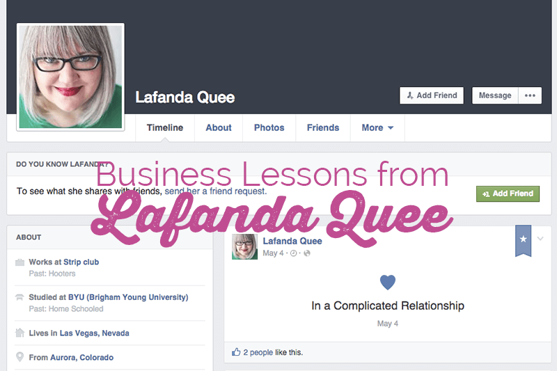 The Business Lesson to be Learned from Lafanda Quee