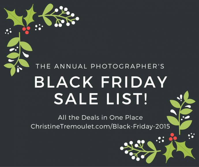 Black Friday Deals for Photographers & Creative Entrepreneurs – 2015