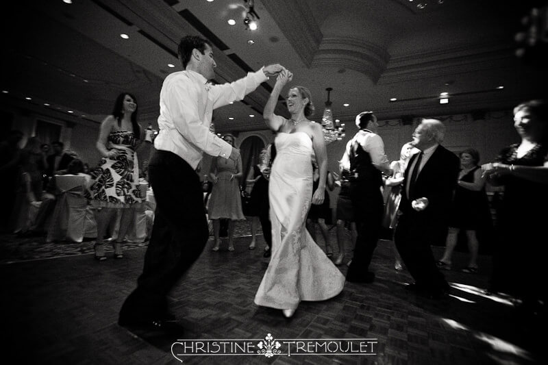 Post Oak Hilton Reception - Kari & Nick dancing