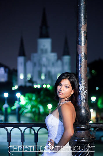 Bridal Session in front of the St Louis Cathedral in New Orleans LA