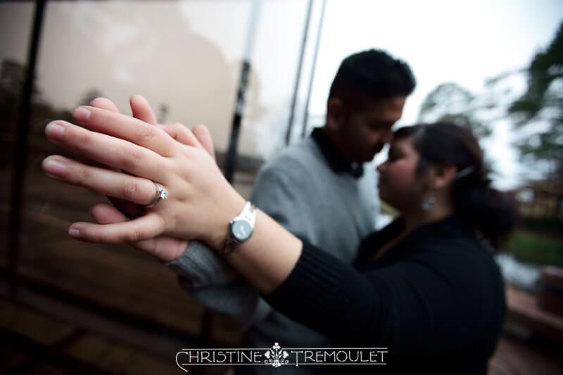 The Glass Tiffany & Romeo Woodlands Engagement Photography
