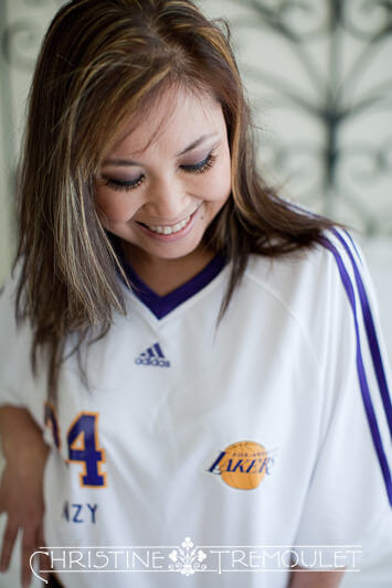 Laker's Jersey - Boudoir Photographer Houston