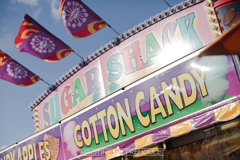 Cotton Candy Engagement Session at the Carnival