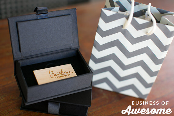 Custom Wood USB Flash Drives and Packaging for Photographers