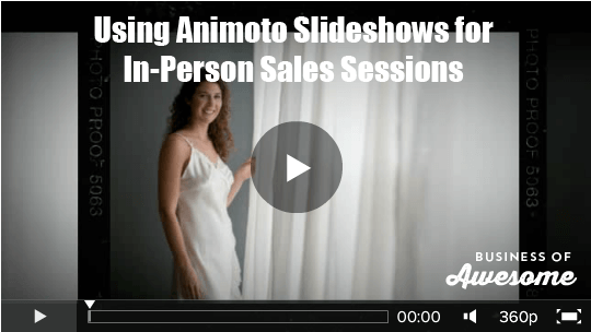 Using Animoto Slideshows for in-person Sales Sessions