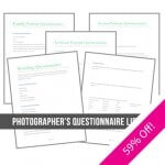 Photographer's Questionnaire Library from The Modern Tog