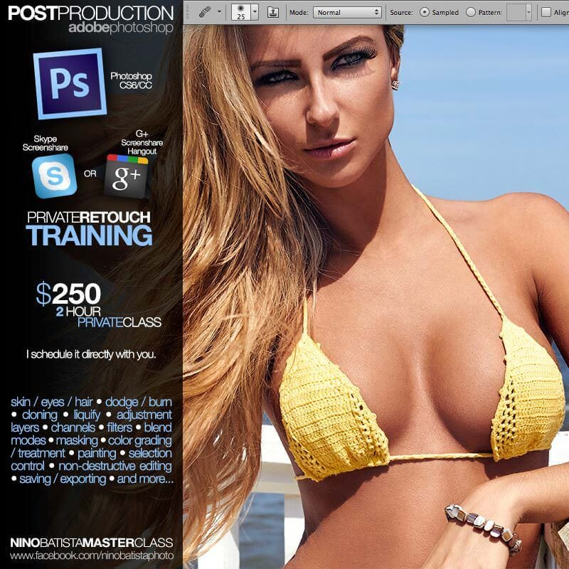 Nino Batista Private Retouching Training