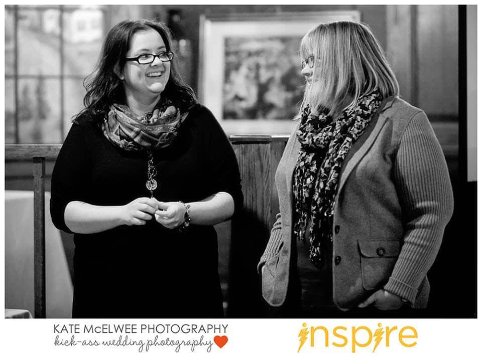 Christine Tremoulet & Stephanie Ostermann speaking together at Inspire 2014