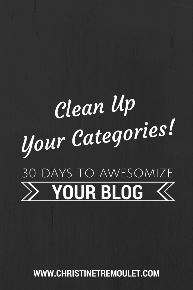 Clean Up Your Categories! 30 Days to Awesomize Your Blog