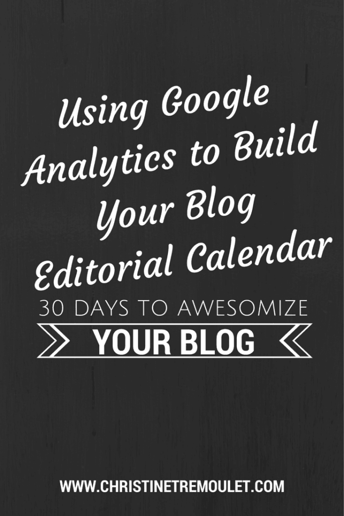 Using Google Analytics to Build Your Blog Editorial Calendar