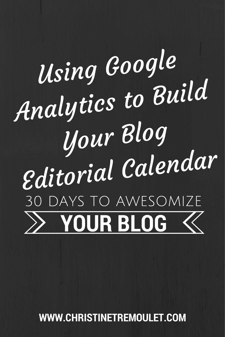 Using Google Analytics to Build Your Blog Editorial Calendar