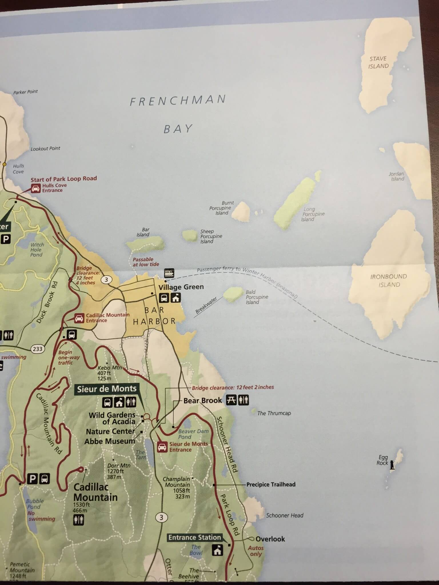 Map of Frenchman Bay and the Porcupine Islands, Acadia National Park