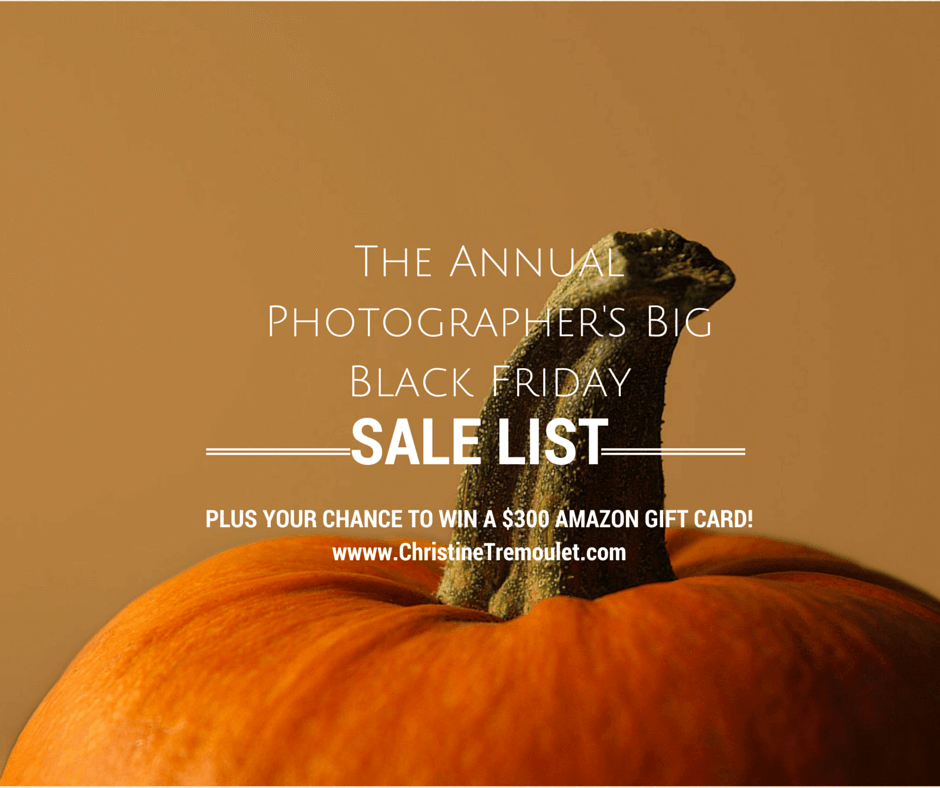Annual Big Black Friday Sales List for Professional Photographers