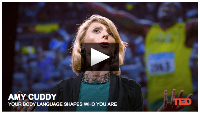 Your body language can control your mind and improve your confidence. TED talk by Amy Cuddy