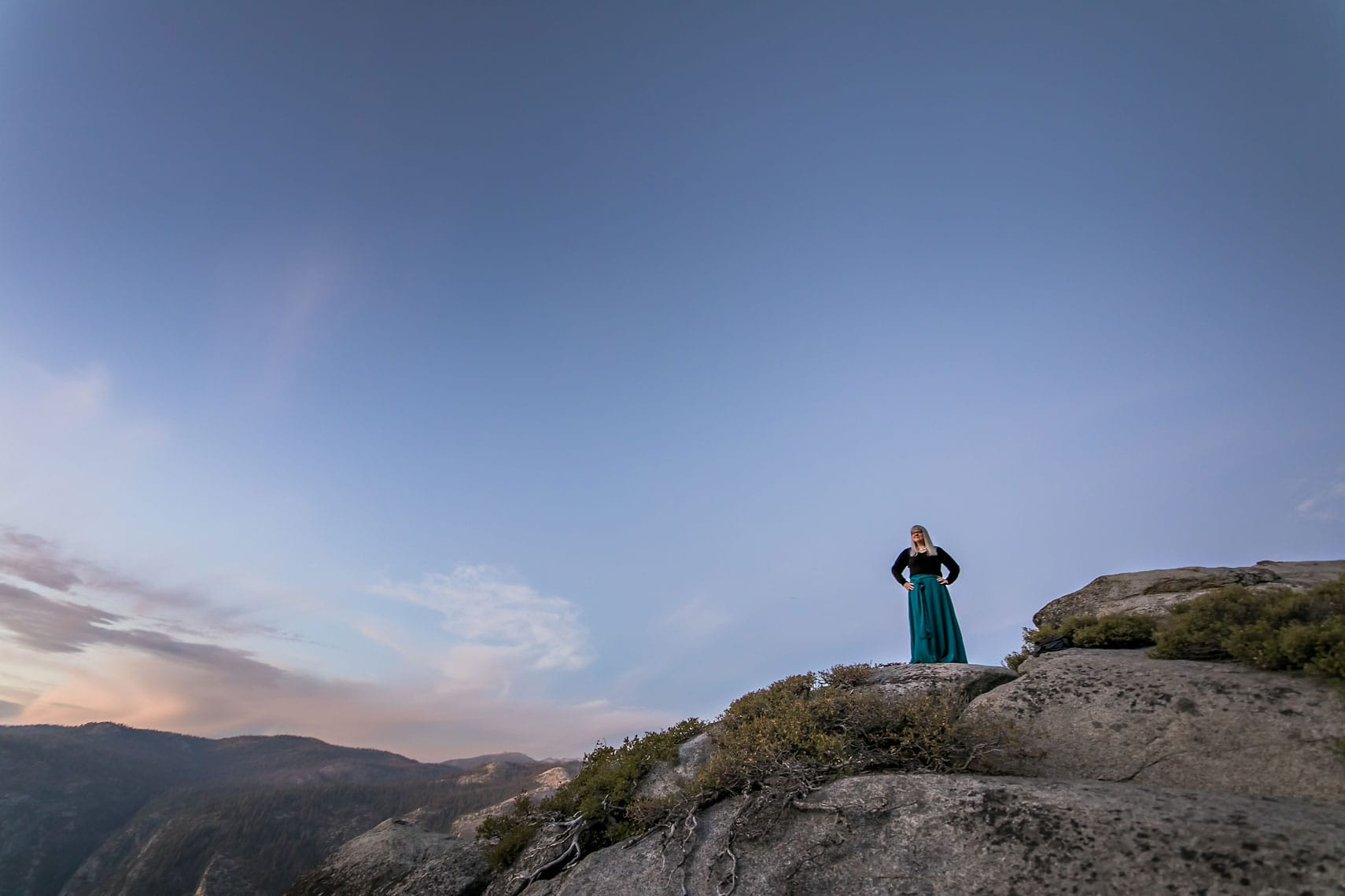 Christine Tremoulet at Glacier Point in Yosemite National Park. Photography by Shawn Reeder.